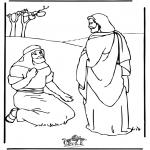 Kolorowanki Biblijne - Jezus Uzdrowiciel