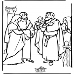 Kolorowanki Biblijne - Jezus w Świątyni