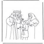 Kolorowanki Biblijne - Jezus w wieku dwunastu lat