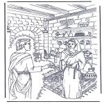 Kolorowanki Biblijne - Jezus zostaje posmarowany