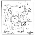 Kolorowanki Biblijne - Józef Przynosi Jedzenie