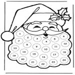 Boze Narodzenie - Kalendarz adwentowy gwiazdor