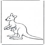 Zwierzęta - Kangur z maluszkiem