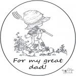 Maisterkowanie - Kartka dla Taty