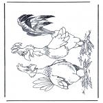 Zwierzęta - Kogut i kura