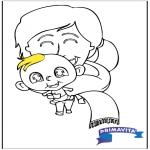Tematy - Kolorowanka - dziecko 2