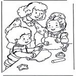 Przedszkolaki - Kolorowanki dla dzieci