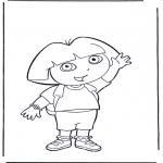 Przedszkolaki - Kolorowanki Dora