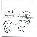 Zwierzęta - Kolorowanki krowa