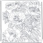 Różne - Kolorowanki kwiaty