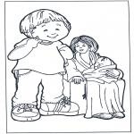 Przedszkolaki - Kolorowanki mama z dzeicmi