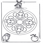 Mandala's - Kolorowanki mandala misiowa