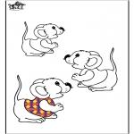 Zwierzęta - Kolorowanki Myszki 2