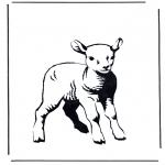 Różne - Kolorowanki owieczka