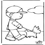 Zwierzęta - Kolorowanki psy