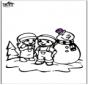 Kolorowanki śniegowy bałwan 2