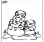 Kolorowanki śniegowy bałwan 3