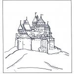 Bohaterowie Z Bajek - Kolorowanki zamek