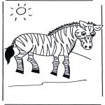 Zwierzęta - Kolorowanki zebra
