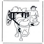 Zwierzęta - Koń i wóz