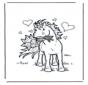 Koń z kwiatkami