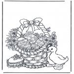 Tematy - Koszyczek z jajkami wielkanocnymi