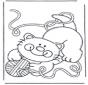 Kotek z wełną