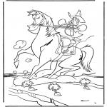 Zwierzęta - Kowboj na koniu