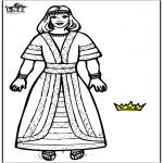 Kolorowanki Biblijne - Królowa Ester 2