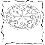 Mandala's - Kwiatowa Mandala 3
