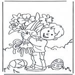 Tematy - Kwiaty z Wielkanocą