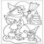 Boze Narodzenie - Lepienie Bałwana