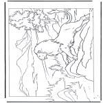 Zwierzęta - Lew na skałach