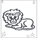 Zwierzęta - Leżący lew