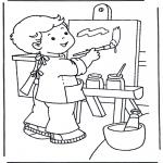 Przedszkolaki - Malowanie na płótnie