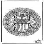 Mandala's - Mandala ' Insekt 1