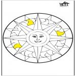 Mandala's - Mandala słońce