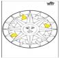 Mandala słońce