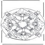 Różne - Mandala z Grzybem 1