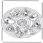 Mandala's - Mandala zwierząt 2