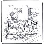 Kolorowanki Biblijne - Maria i Marta 1