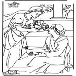 Kolorowanki Biblijne - Maria i Marta 2