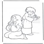 Kolorowanki Biblijne - Marta i Maria