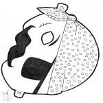 Kartki do Kłucia - Maski 13