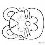Kartki do Kłucia - Maski 2