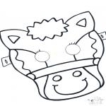 Kartki do Kłucia - Maski 5