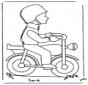Męższczyzna na motocyklu