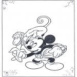 Bohaterowie z Bajek - Mickey i Małpka