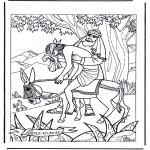 Kolorowanki Biblijne - Miłosierny Samarytanin 1