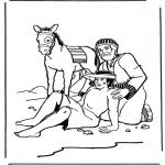 Kolorowanki Biblijne - Miłosierny Samarytanin 2